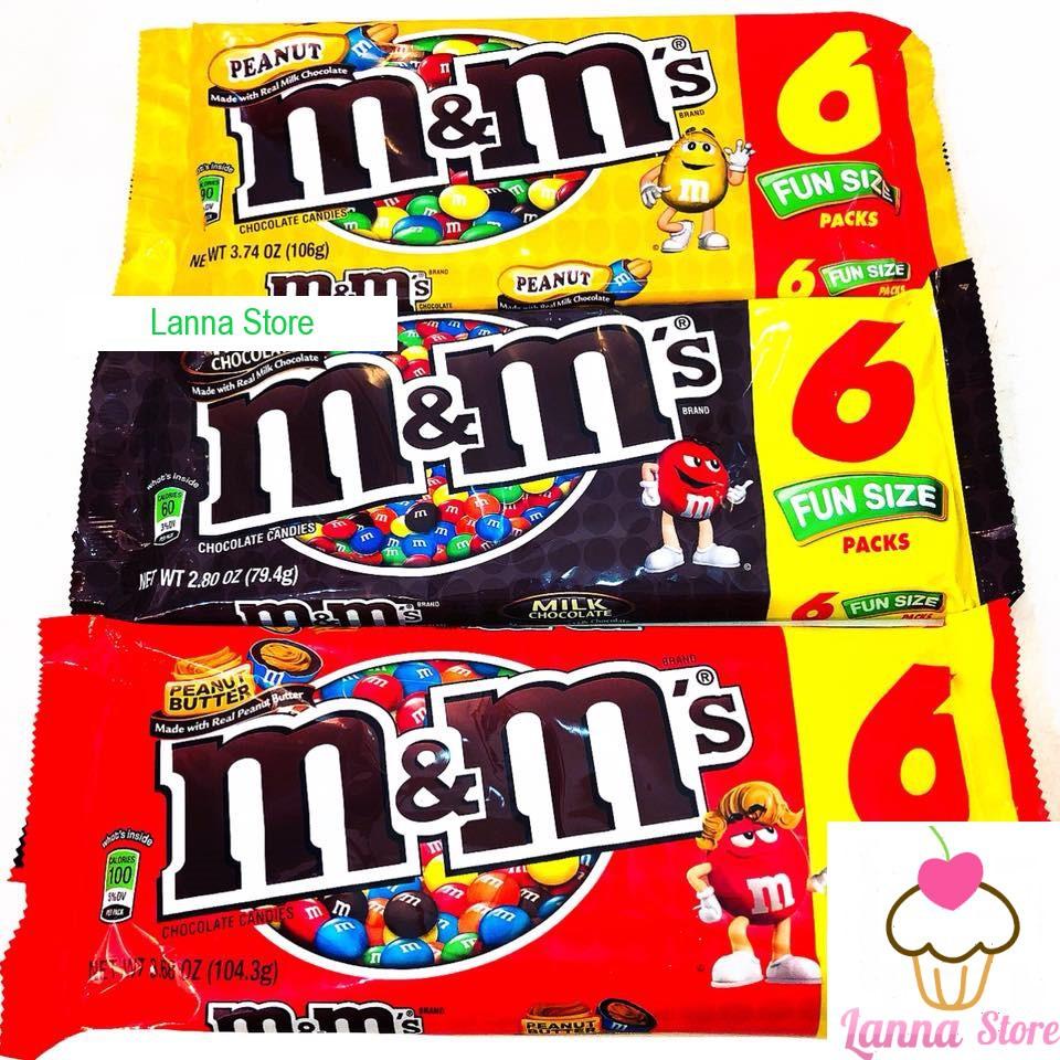 Sô cô la M&M gói 6 packs- Mỹ