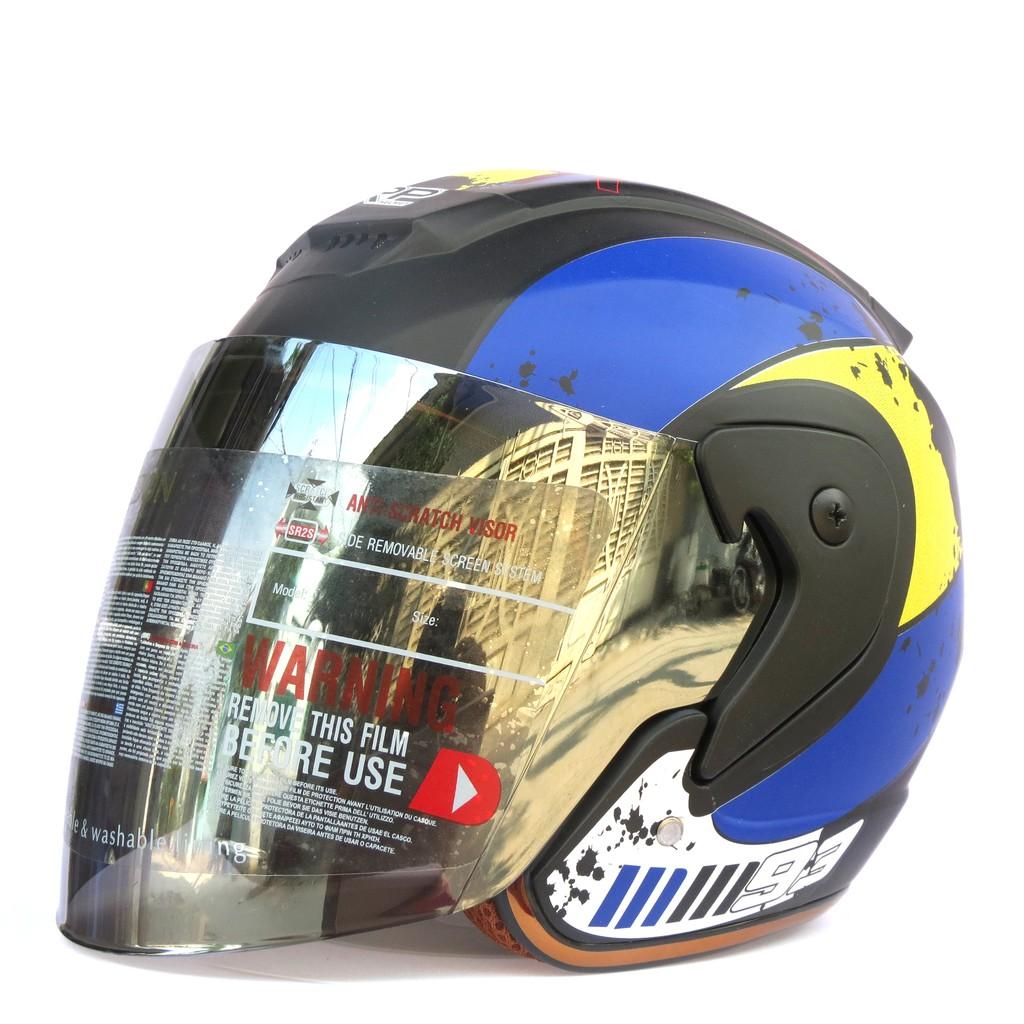 Mũ bảo hiểm fullface NTMAX viền đồng tem nhện (nhiều màu)