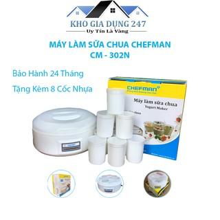 Máy làm sữa chua Chefman 8 cốc Cao Cấp Chính Hãng✨ Giúp Làm Sữa Chua Ngon, An Toàn Cho Sức Khỏe