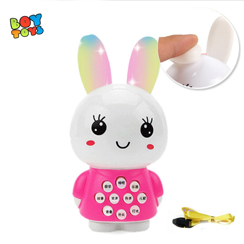 Thỏ xinh xắn có đèn và nhạc tai phát sáng dễ thương cho bé