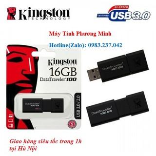 [Mã ELFLASH5 giảm 20K đơn 50K] USB Kingston 16GB 3.0 DT100G3- Hàng cao cấp chính hãng bảo hành 5 năm