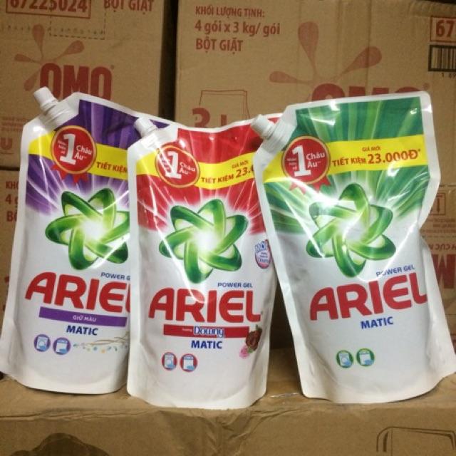 [234k]Combo 3 túi nước giặt ariel 1.4l 3 màu