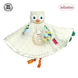 Set khăn cú mèo ôm ấp và gặm nướu cao cấp BPA Free Infantino 005328 chính hãng