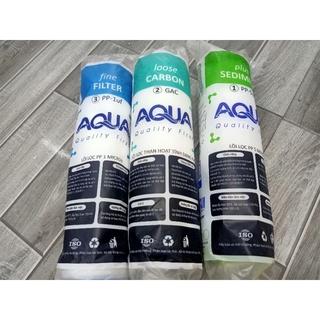 Bộ 3 lõi lọc nước AQUA 1-2-3 Hàng chính hãng, dùng được cho mọi máy RO thumbnail