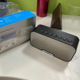 [Mã ELFLASH5 giảm 20K đơn 50K] Loa Bluetooth Kiêm Đồng Hồ G10 Mặt Gương Hiển Thị Đèn Led - Đài FM - Đồng Hồ Báo