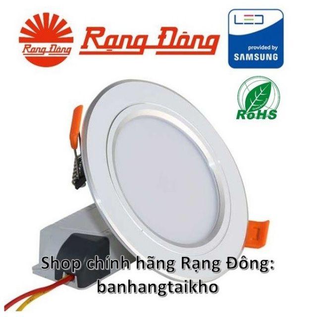 [CHÍNH HÃNG] Đèn LED âm trần đổi màu 7W viền bạc, khoét lỗ 90mm SAMSUNG chipLED