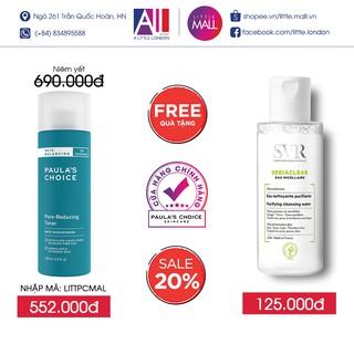 Toner cho da dầu, lỗ chân lông to Paula's Choice skin balancing pore reducing toner 190ml TẶNG tẩy trang SVR (Nhập khẩu)