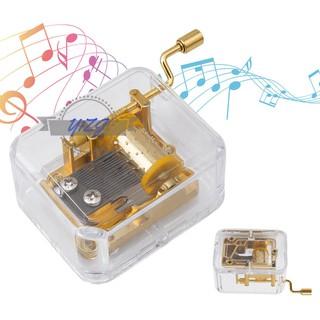 Hộp nhạc đồ chơi bằng acrylic với quay tay , được làm từ Acrylic , dùng làm quà sinh nhật