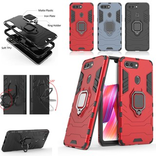 For OPPO R9 R9S R11 R11S Plus R15 R17 Pro Heavy Duty Shockproof Case Ring Holder Stand Tough Hard Cover