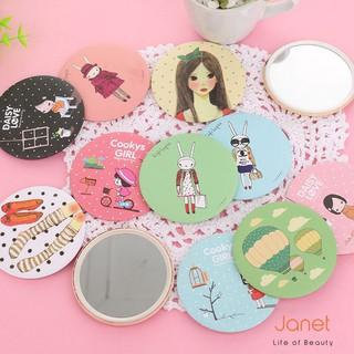 Gương Mini Nhỏ Gọn Bỏ Túi Hàn Quốc, Nhiều họa tiết dễ thương [Hình ngẫu nhiên]