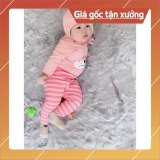 Bộ tai thỏ thu đông QUỐC DÂN bé trai bé gái MINKY MOM [GÍA GIẢM SÂU] đồ bộ dài tay trẻ em kèm mũ nón 100% chất thun lạnh