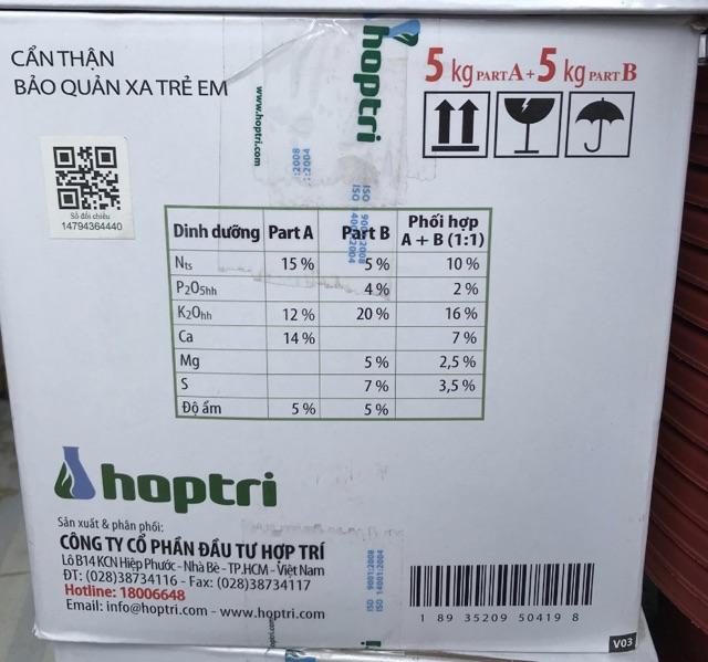 Dinh dưỡng thuỷ canh dùng cho dưa leo, cà chua, cà tím Hydro Fruity thùng 10kg.