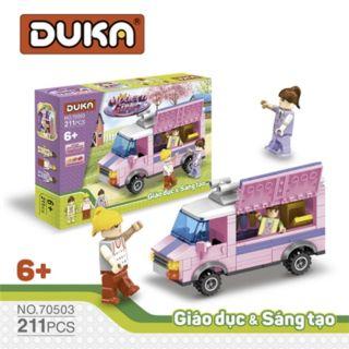 Đồ chơi xếp hình xe bánh kem Duka (211 chi tiết) thumbnail