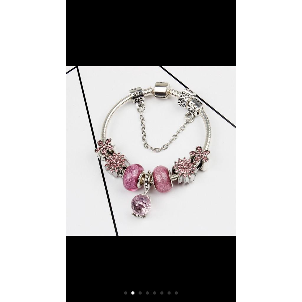 Quà valentine- Vòng tay Charm phong thủy phủ bạc Thái