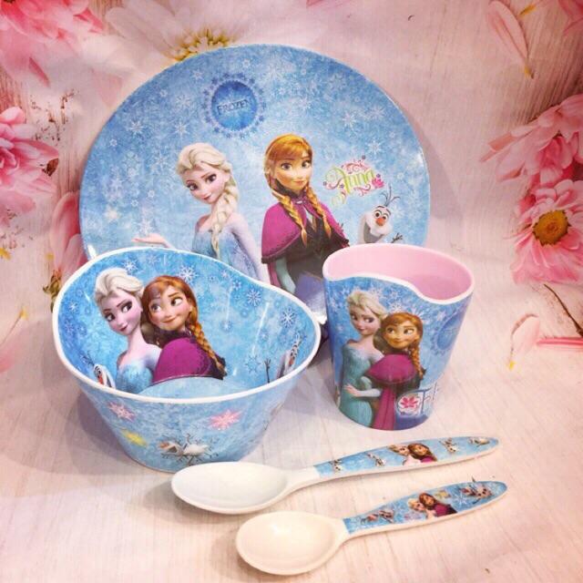 Set bát đĩa công chúa Elsa , Kitty , Mon , người Nhện cao cấp .