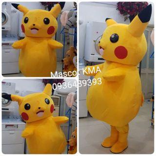 Quần áo hoá trang Mascot Pikachu – Đồ chơi nhân vật hoạt hình, nhập vai