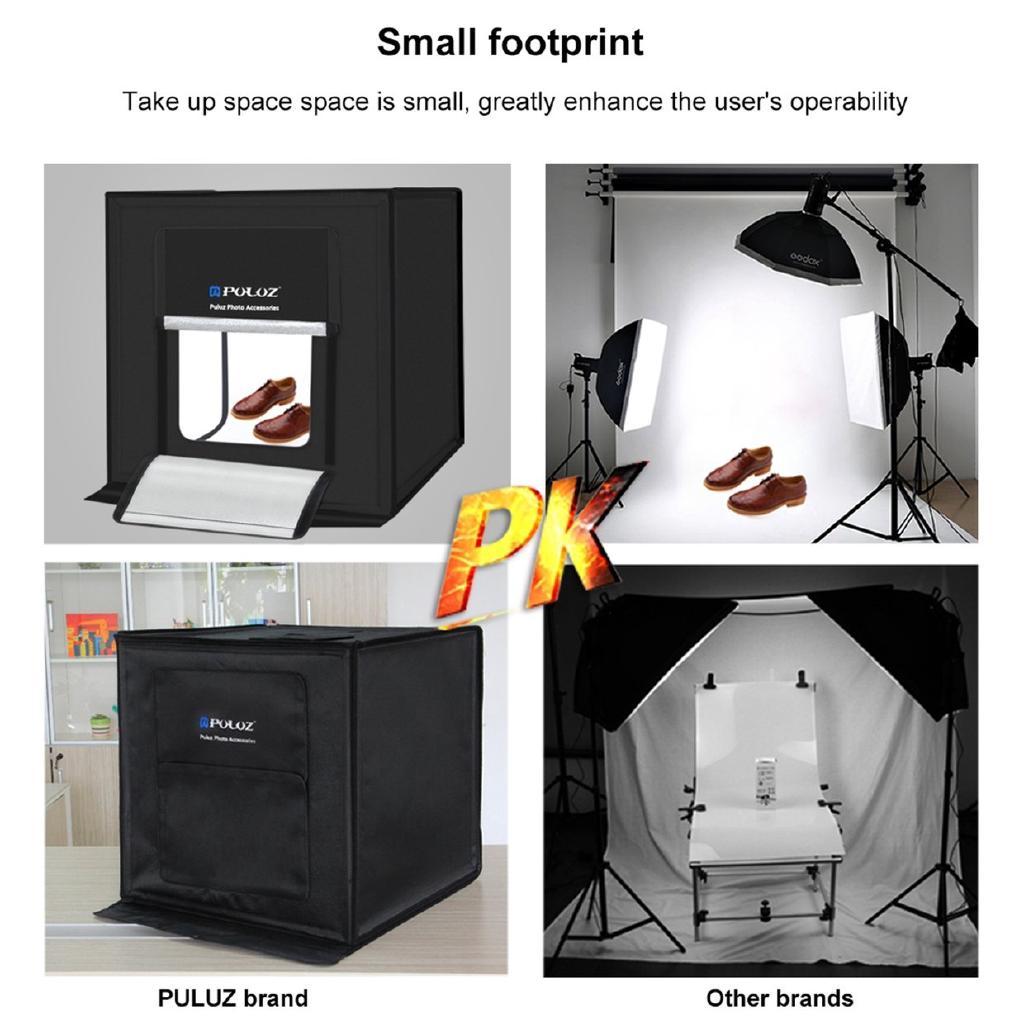 PULUZ 60*60cm 60W LED Light Box Photo Studio Photography Box Foldable Softbox