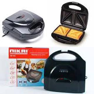 Máy nướng bánh,sanwech,nướng bánh mì hiệu NIKAI-Máy kẹp nướng bánh siêu nhanh và tiện dụng