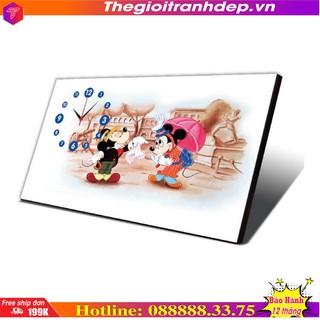 Đồng hồ tranh để bàn hoạt hình Chuột Mickey