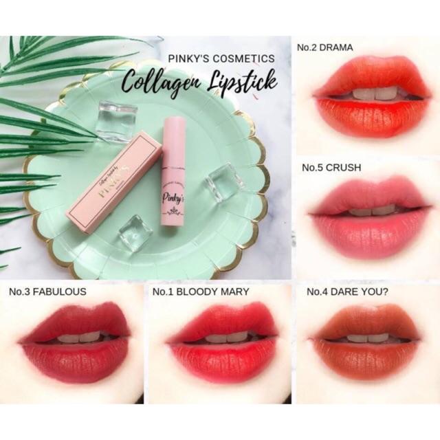 Son Tươi PINKY'S phiên bản Collagen 2019 - handmade