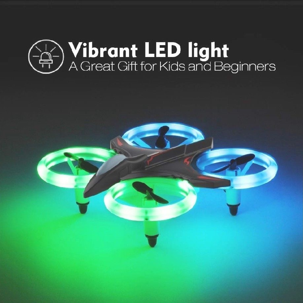 Professional Headless Mode LED Luminous 3D Roll Boys And Girls Quadcopter Altitude Hold Drone Bag Mini Remote Control