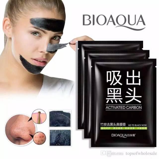 Mặt nạ lột mụn đầu đen ở mũi Bioaqua với thành phần than hoạt tính