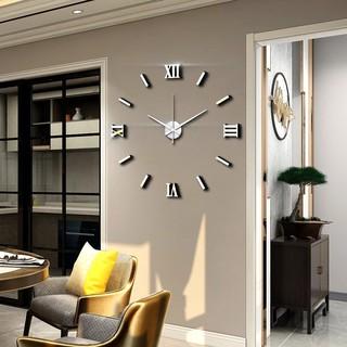 Đồng hồ gắn tường 3d acrylic tráng gương trang trí nội thất