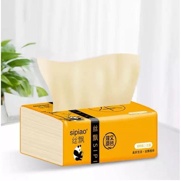 BỊCH KHĂN GIẤY 300 TỜ GẤU TRÚC PANDA, khăn giấy khô túi lớn, giấy ăn, lau chùi cho bé, tiện lợi du lịch, eating tissue