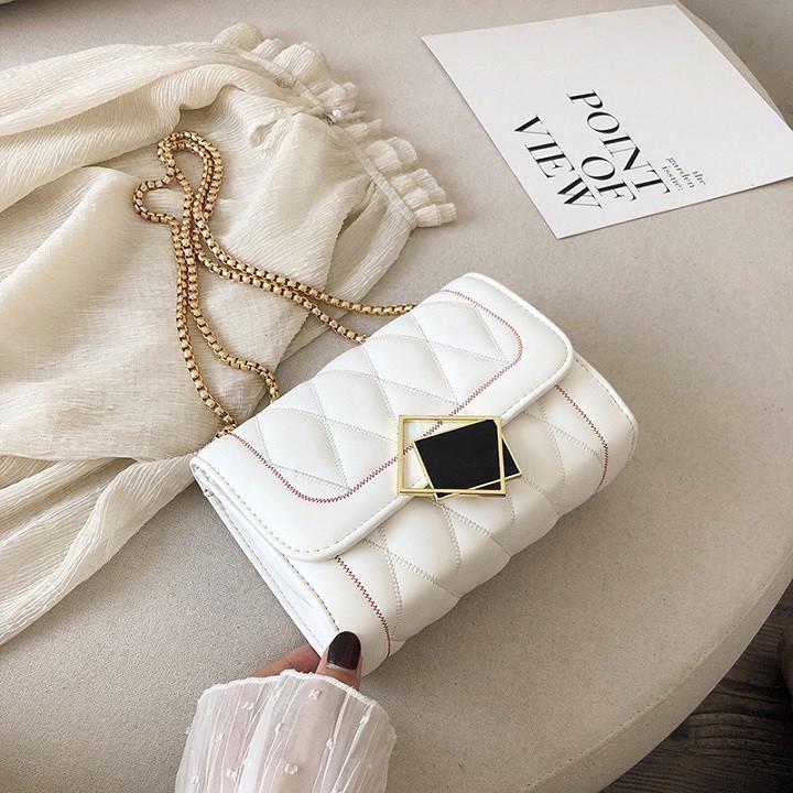túi xách nữ 💖 𝑭𝑹𝑬𝑬𝑺𝑯𝑰𝑷 💖 Túi đeo chéo nữ quả trám Thời Trang MICOMI Hàng Quảng Châu