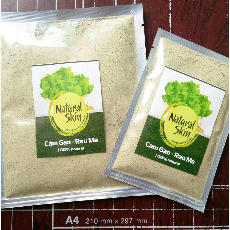 Bột Cám gạo Rau má Natural Skin 100g siêu mịn