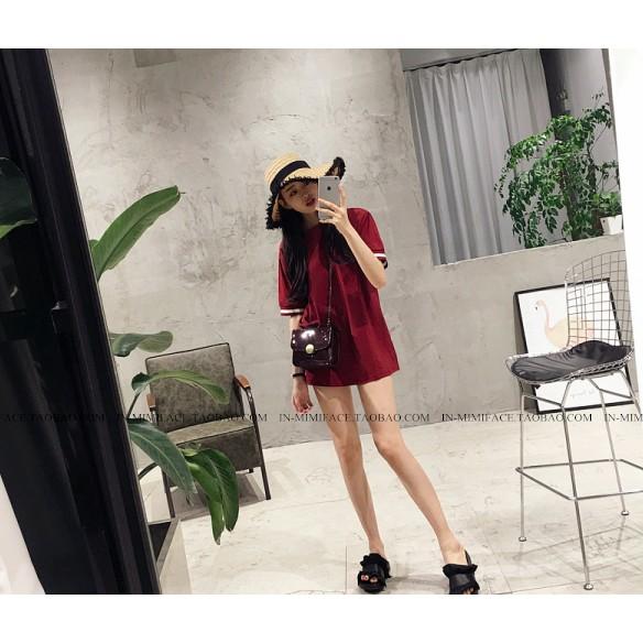 áo thun nữ dài tay màu đỏ rượu vang