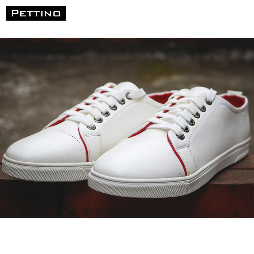 [FREESHIP TỪ 99K HN+HCM] Giày Nam Cao Cấp - Pettino GD06 (trắng)