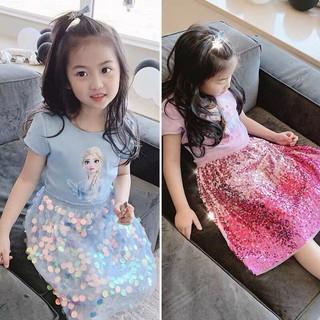 Đầm Elsa bé gái (2 màu)