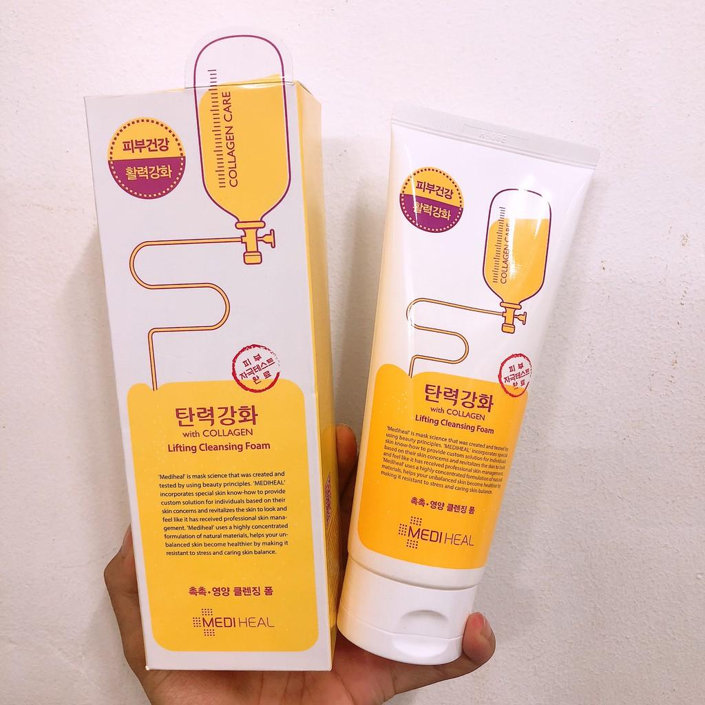 Kết quả hình ảnh cho MEDIHEAL - Sữa Rửa Mặt Săn Chắc Da Collagen Lifting Cleansing Foam
