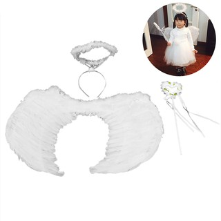 3PCS Party Favors Set Including Wings Head Hoop Princess Wand for Girls