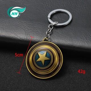 Mô hình Khiên Captain America Xoay 360 độ loại móc khoa