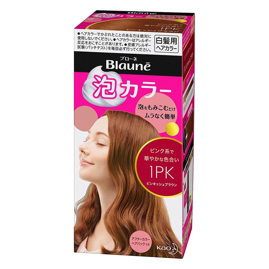 Thuốc nhuộm tóc Nhật Kao Blaune phủ bạc dạng bọt Màu PINKISH BROWN - 1PK - 14651753 , 696103535 , 322_696103535 , 330000 , Thuoc-nhuom-toc-Nhat-Kao-Blaune-phu-bac-dang-bot-Mau-PINKISH-BROWN-1PK-322_696103535 , shopee.vn , Thuốc nhuộm tóc Nhật Kao Blaune phủ bạc dạng bọt Màu PINKISH BROWN - 1PK