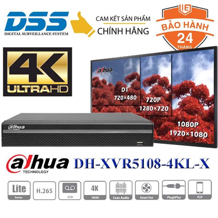Đầu ghi hình camera 8 kênh 4mpx Dahua DH-XVR5108HS-4KL-X chính hãng DSS Việt Nam
