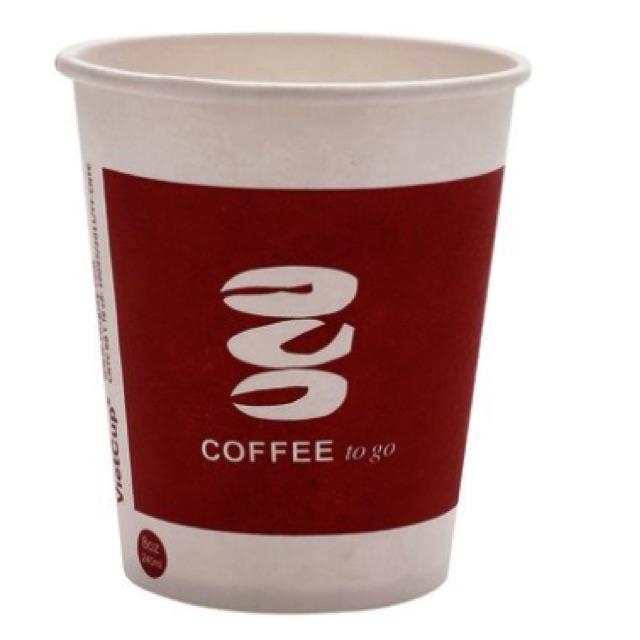 Cốc giấy coffee nóng kiểu mới VietCup 240ml lốc 50 cái
