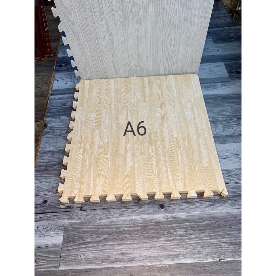 Thảm Xốp Cho Bé Trải Sản Vân Gỗ 💥Thảm Tập Chơi Lót Sàn💥 60x60x1cm