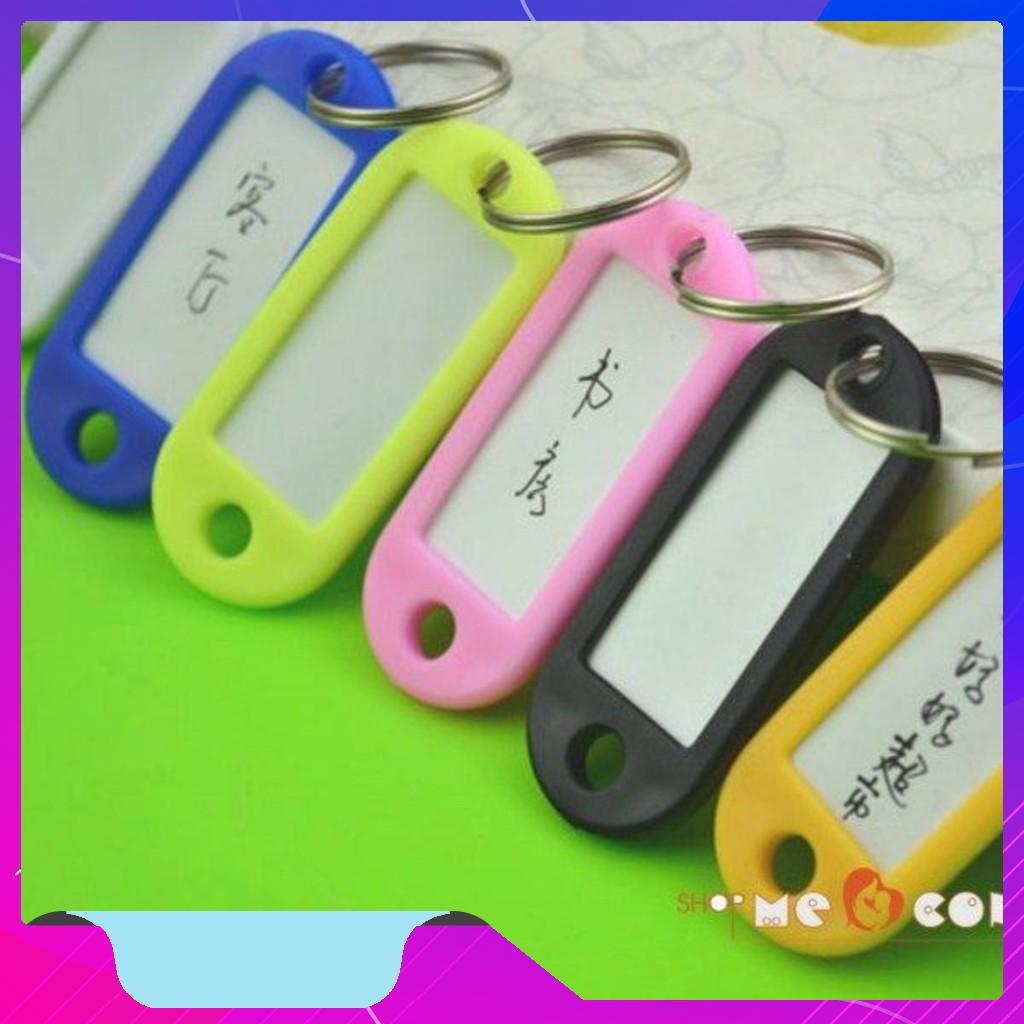 [FLASH SALE] Bộ 8 móc chìa khóa thông minh có thẻ tên hàng xuất Nhật