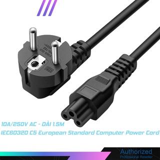 Dây nguồn laptop IEC C5 dài 1.5M EU Laptop 3-pin Charger loại tốt
