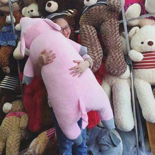 (Ảnh thật ) Gấu bông ,Gối ôm Heo Bông cao cấp size 1m3