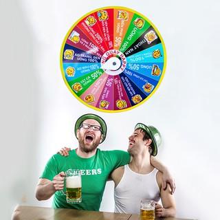 Vòng quay ăn nhậu happy, Vòng quay vui chơi ăn nhậu uống bia dành cho các buổi tiệc tùng cực vui nhộn – Muasamhot1208