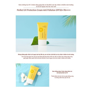 Kem Chống Nắng Innisfree Perfect Uv Protection Cream Anti Pollution Spf 50 Pa++++ (50ml)