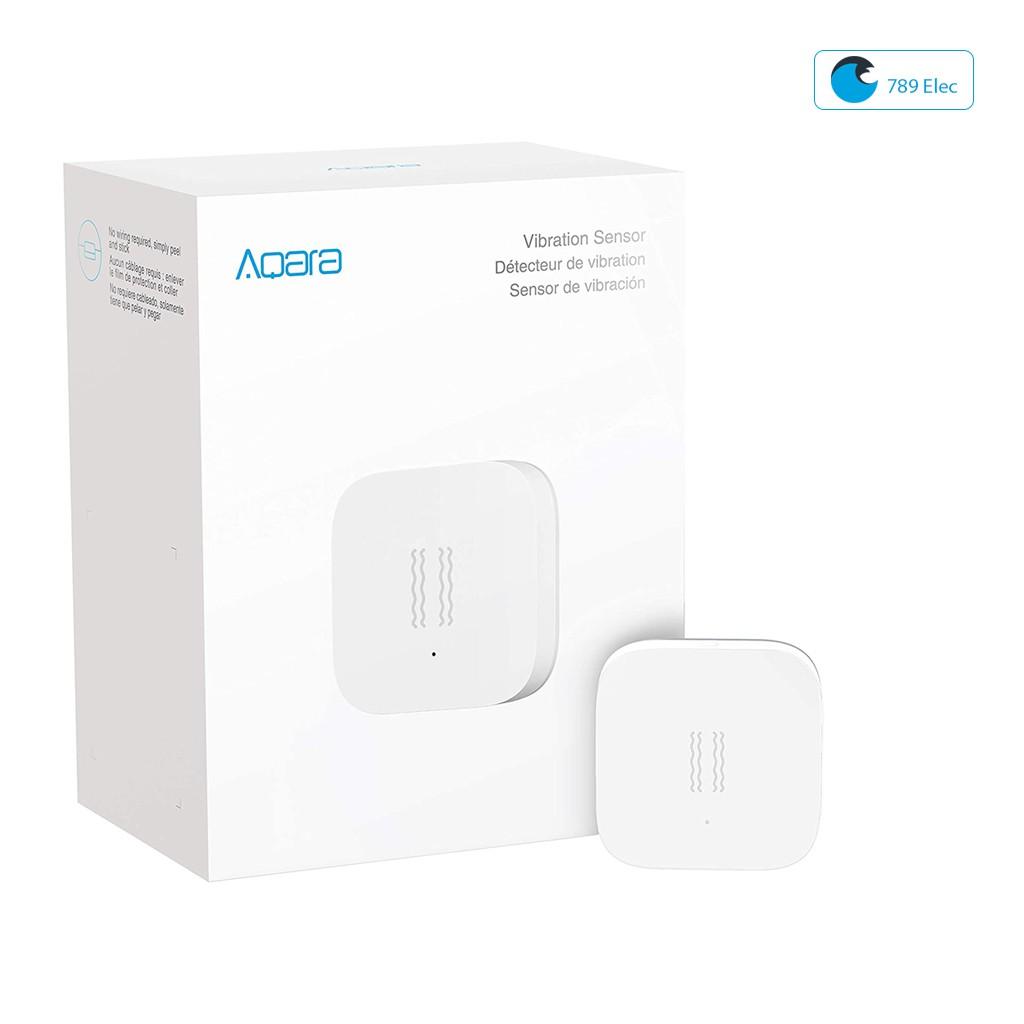 Cảm biến rung động Aqara, cảm biến cửa kính, cảm biến két sắt thông minh không dây cho hệ thống báo động trong nhà.