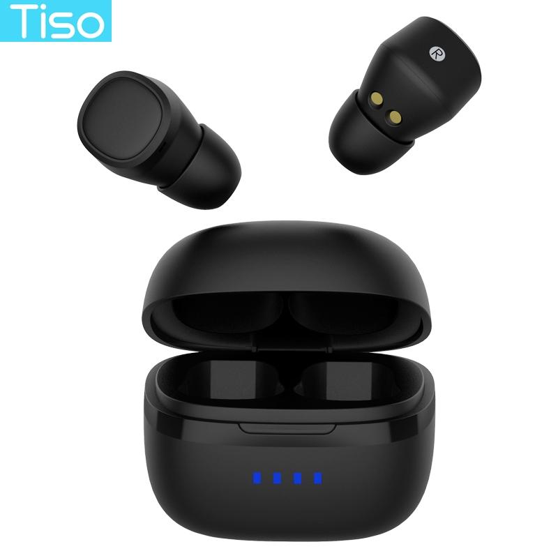 Tiso I5 Bluetooth 5.0 3D TWS Thật Không Dây Tai Nghe Stereo IPX5 Chống Nước Thể Thao Tai Nghe Có Micro Kép