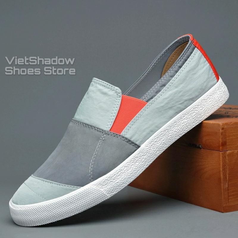 Slip on nam - Giày lười vải nam cao cấp thương hiệu BAODA - Vải polyester chống thấm 3 mẫu pha màu tuyệt đẹp - Mã 20036
