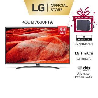 [Mã ELLGJUN giảm 5% đơn 3TR] Smart UHD Tivi LG 43 Inch 4K 43UM7600PTA - Model 2019 - Miễn phí lắp đặt thumbnail