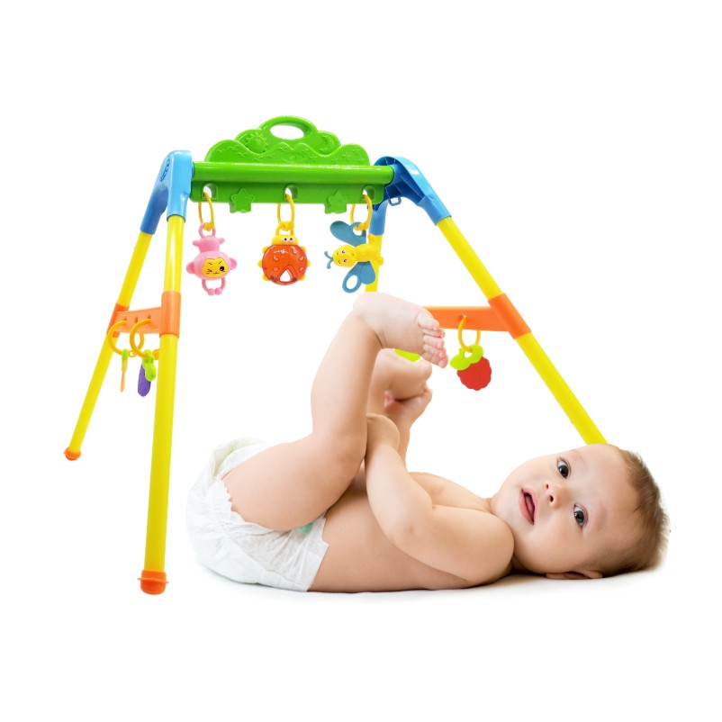 KỆ XÚC XẮC Sato mẫu 2/ Kệ chữ A cho bé từ 3 tháng tuổi